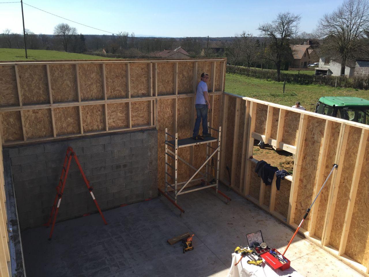 Autoconstruction ossature bois toit plat