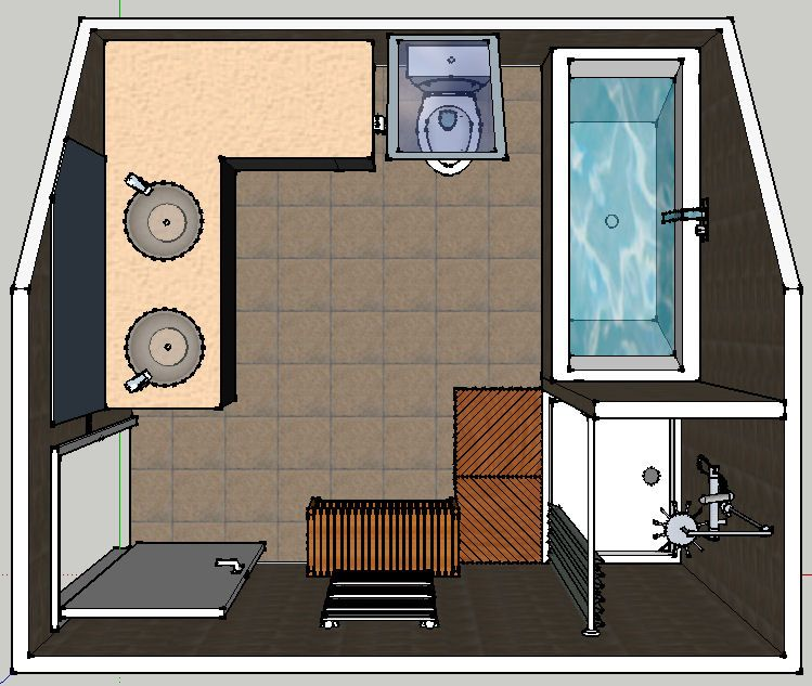 Implantation salle de bain et salle d 39 eau 15 messages - Implantation salle de bain ...