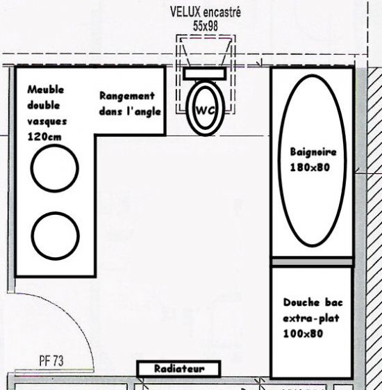 Implantation salle de bain et salle d 39 eau 15 messages for Implantation salle de bain 6m2