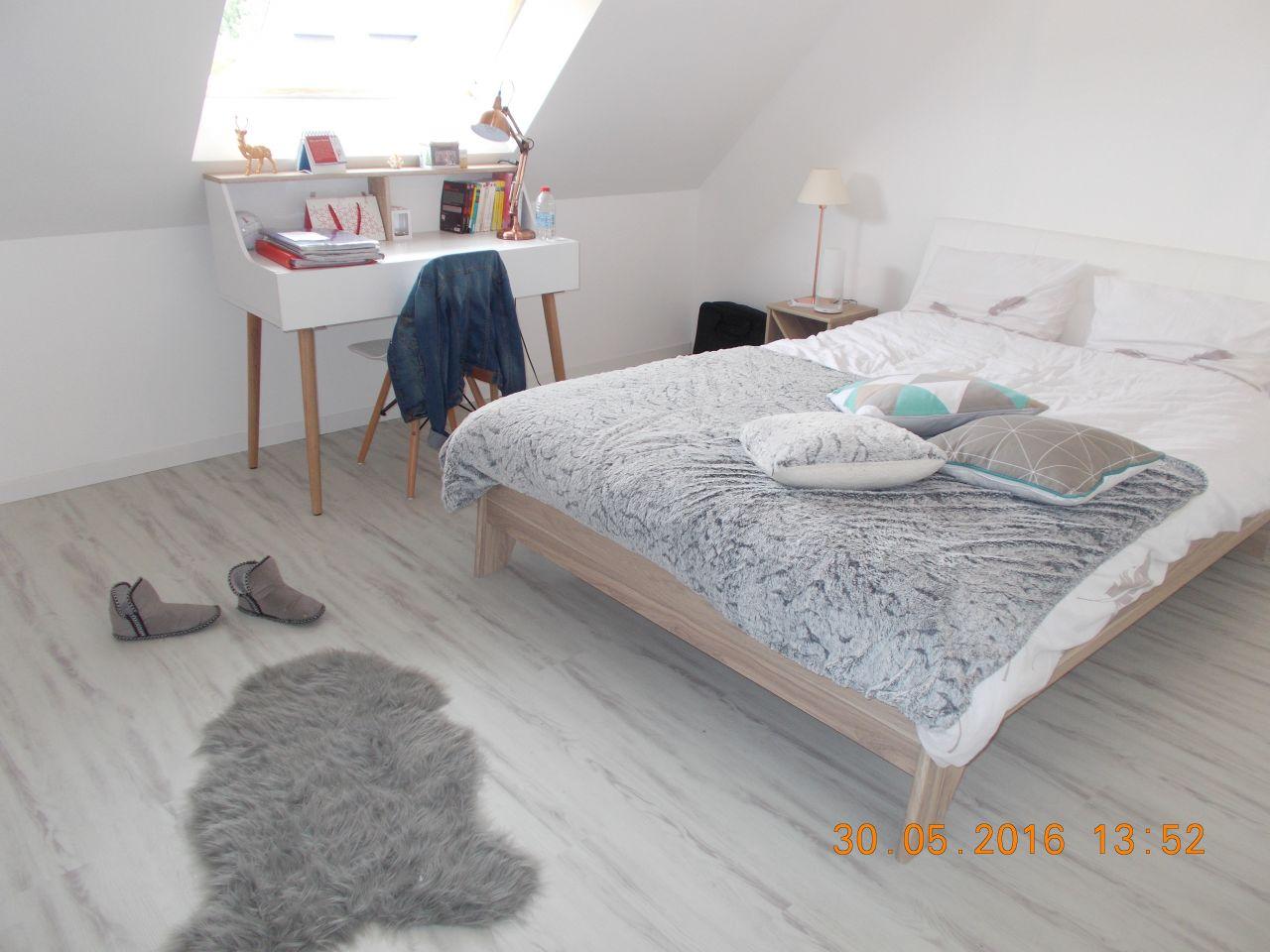 Chambre d'adultes sols pvc / lino - Les Ponts De Ce (Maine Et Loire - 49) - mai 2016