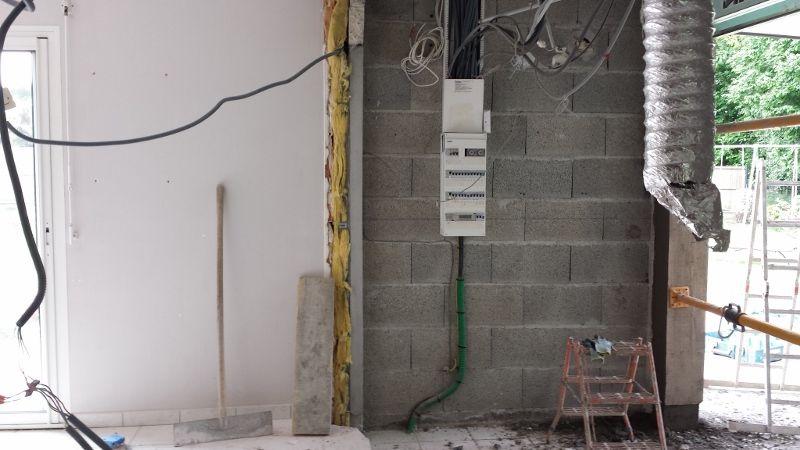 mur entre cellier et cuisine demolli