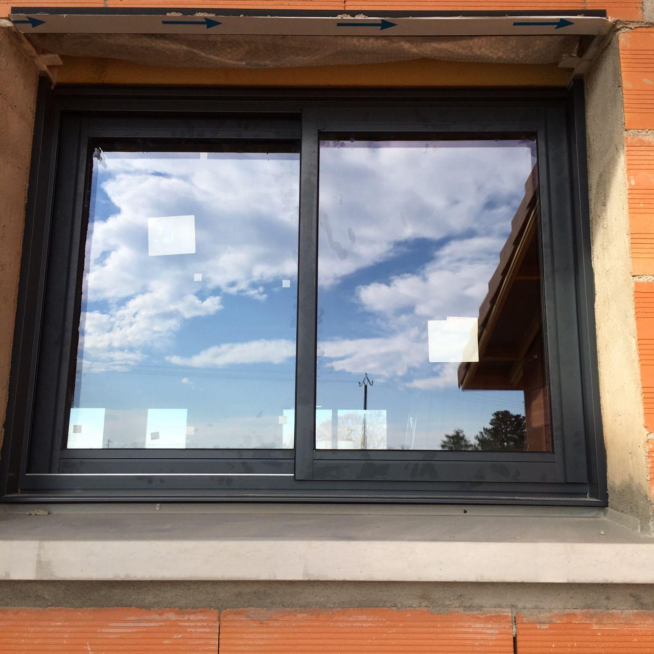 fenêtre coulissante cellier