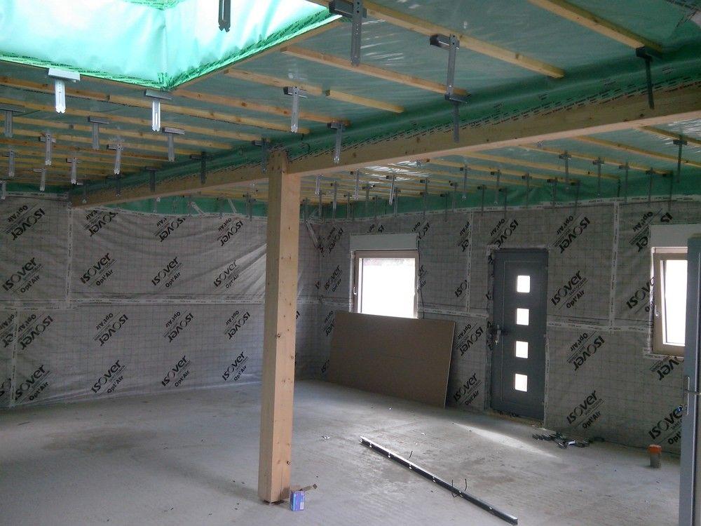 Démarrage placo intérieur: suspentes de plafond