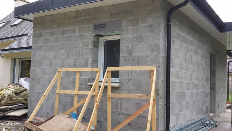 demolition des murs dans la partie existante la suite. Black Bedroom Furniture Sets. Home Design Ideas