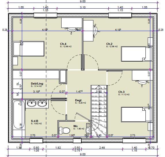 Votre avis sur les plans de ma maison de 115m 3 4 for Plans architecturaux pour ma maison