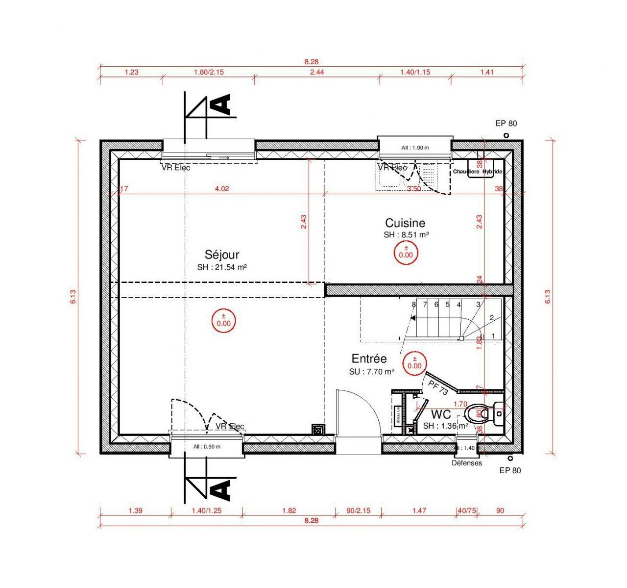 Votre avis sur cuisine ouverte 8 5m2 18 messages for Plan cuisine ouverte 5m2