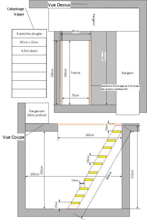 Plan trappe escalier cave vin d but de la pose du for Cave a vin escalier