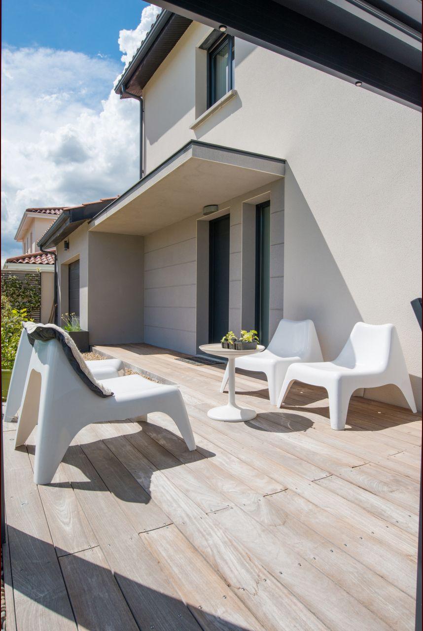 Terrasse en bois exotique - Rhone (69) - juin 2016