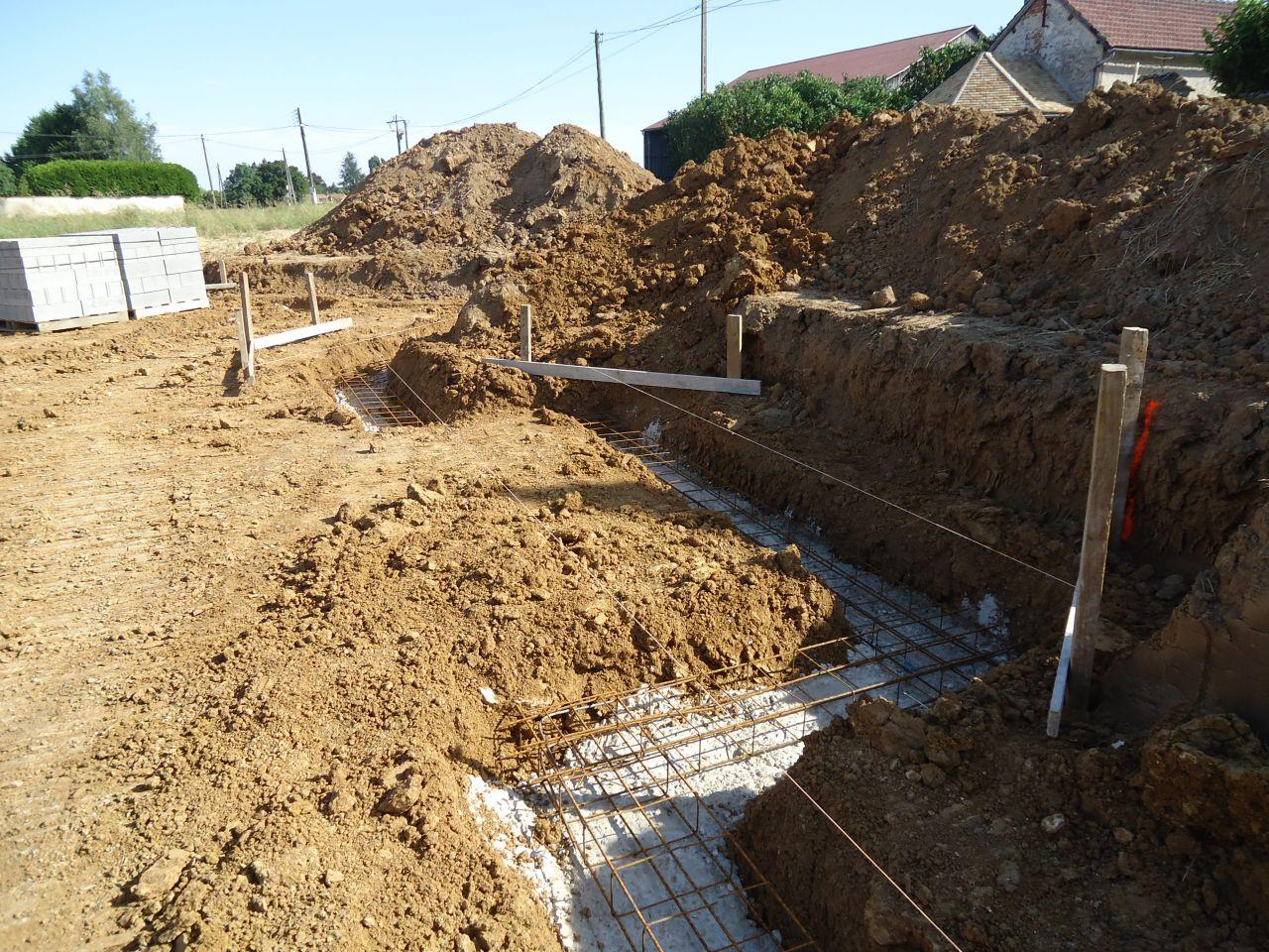 D but des fondations b ton de propret ferraillage for Sechage fondation