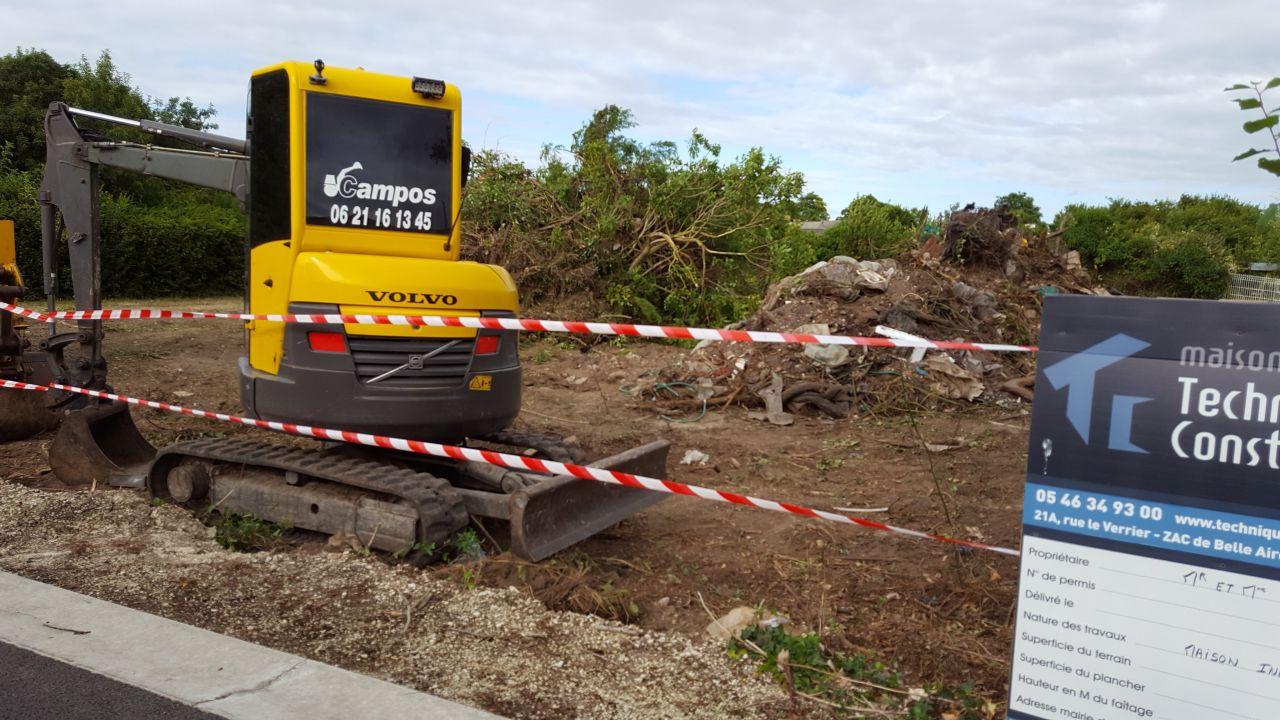 Terrain nettoyé , y a plus qu'a évacuer les déchets!