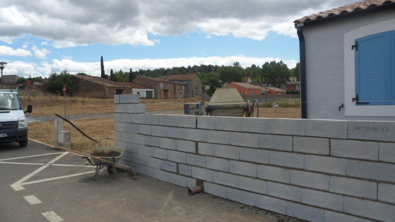 Joint de dilatation sur mur de cl ture en parpaing r solu - Mur de cloture en parpaing ...