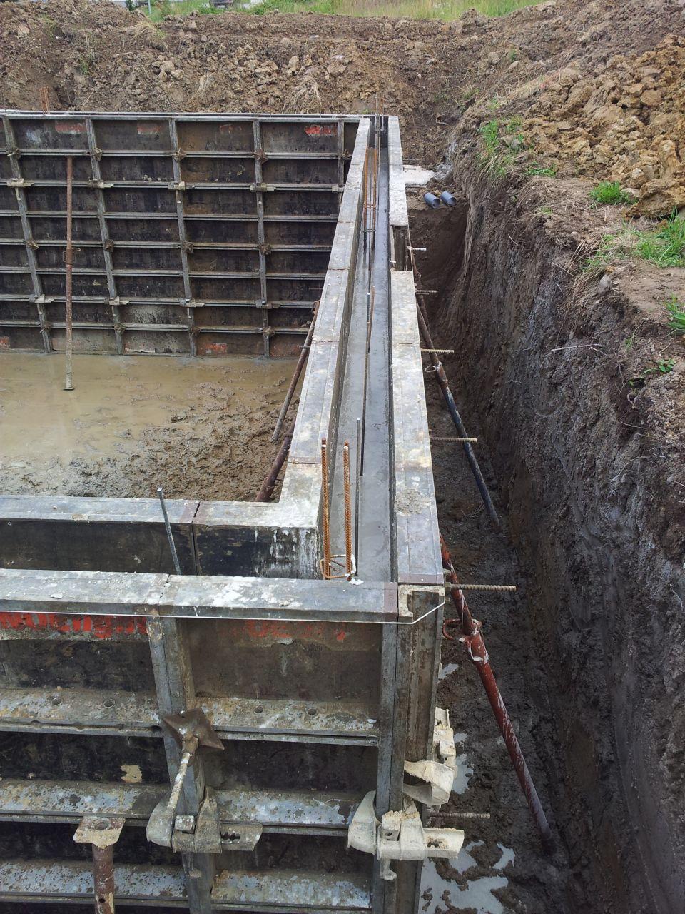 Détail du béton coulé ce jour pour les murs du sous-sol