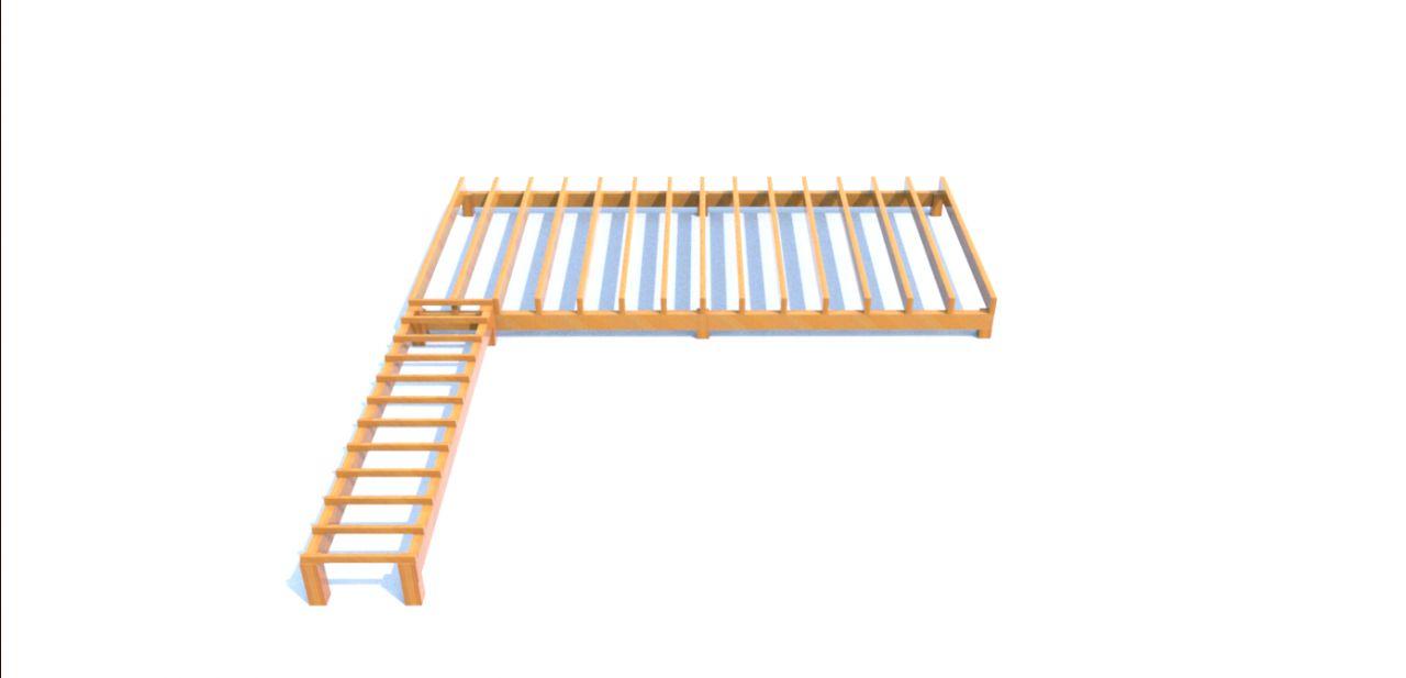 Plan 3D structure terrasse