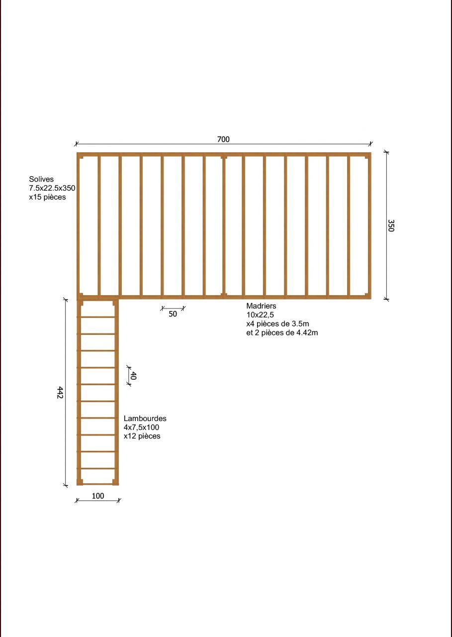 Plan structure terrasse