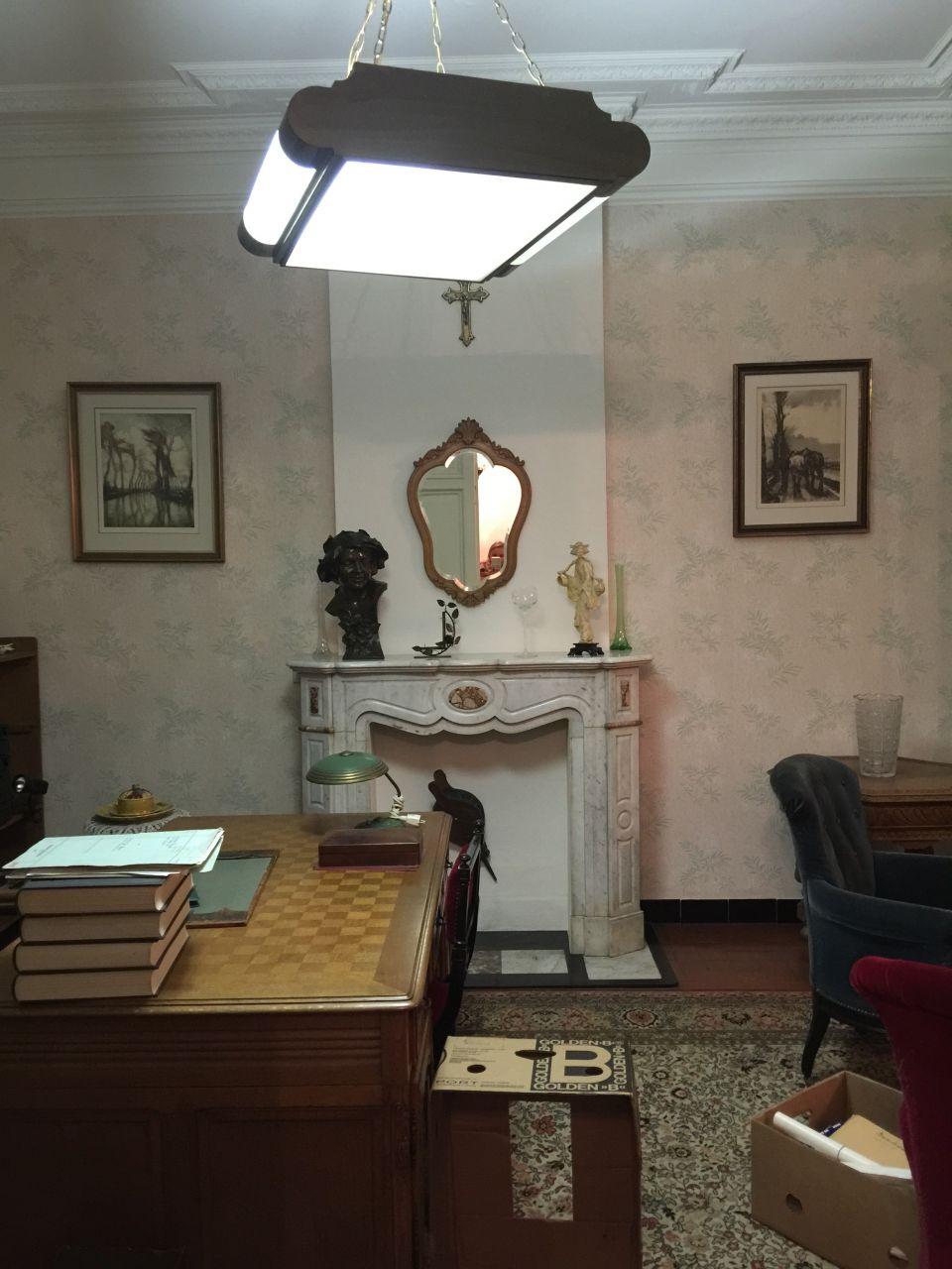 Salon avant que la maison ne soit vidée