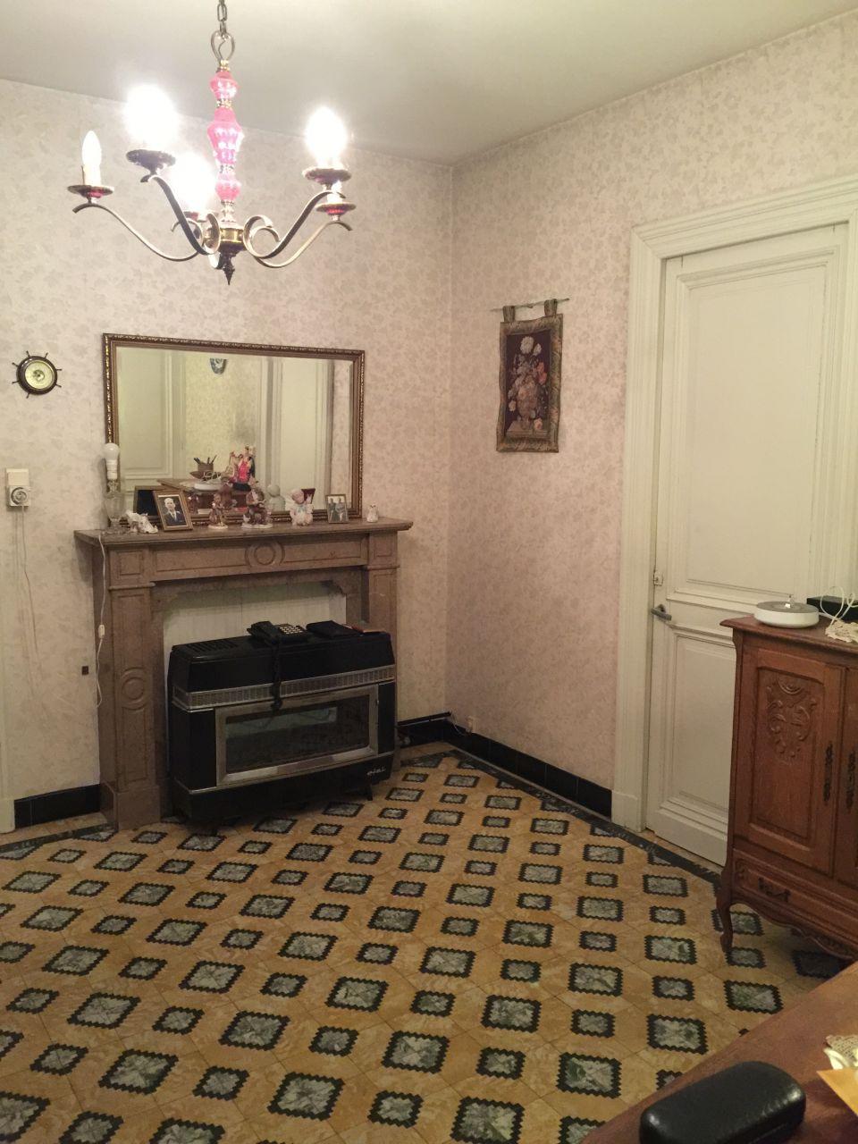 Salle de repos (actuelle cuisine) avant que la maison ne soit vidée