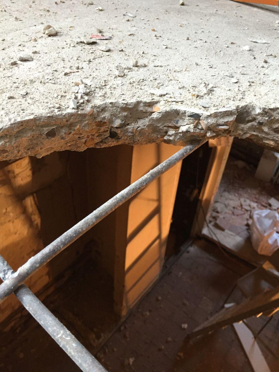 dalle béton étage de 6cm, ferraillée, vue d'en haut