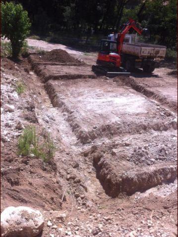 Creusement des fouilles