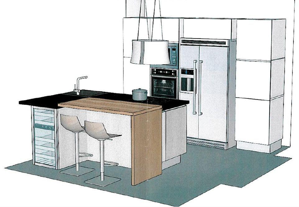 vue 1 du logiciel de la cuisine
