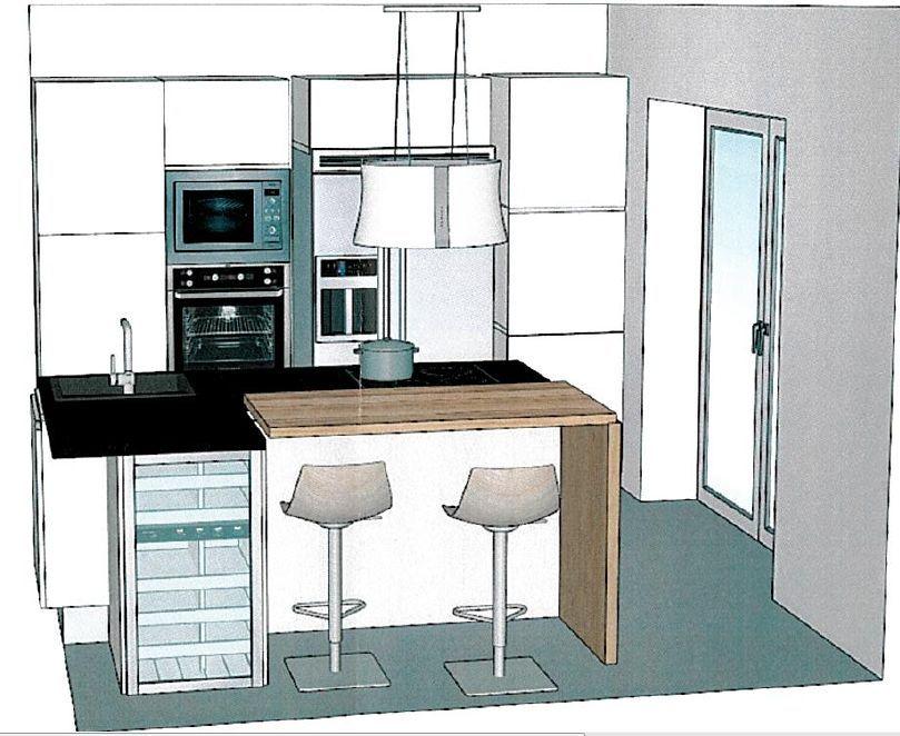vue 2 du logiciel de la cuisine