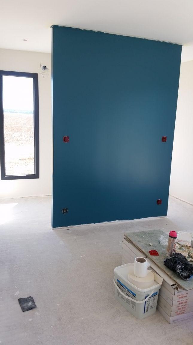 Photo mise en peinture de la chambre parentale lin clair dulux ...
