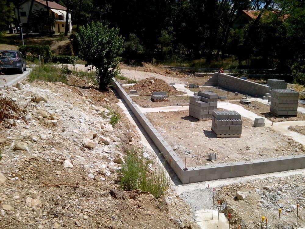 Démarrage des fondations de vide sanitaire