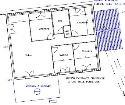 Votre avis sur plans d 39 extension d 39 une maison de 90 for Cuisine ouverte refermable