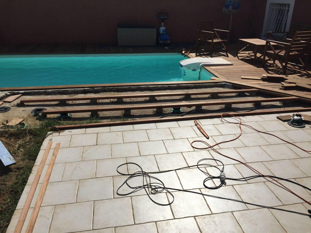 Rénovation Amélioration de notre maison : Terrasse bois de 70m2 ...