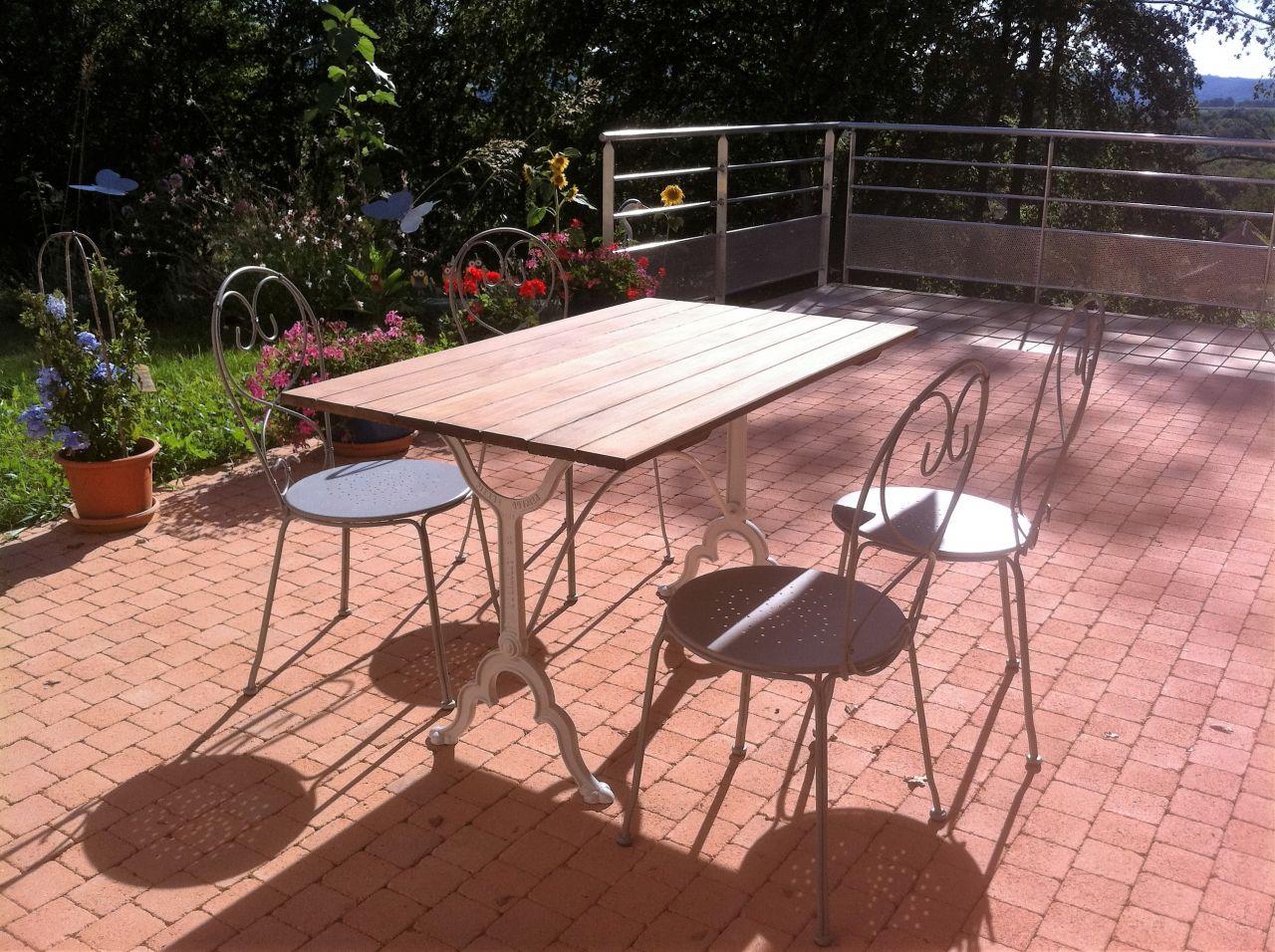 Table de terrasse : après