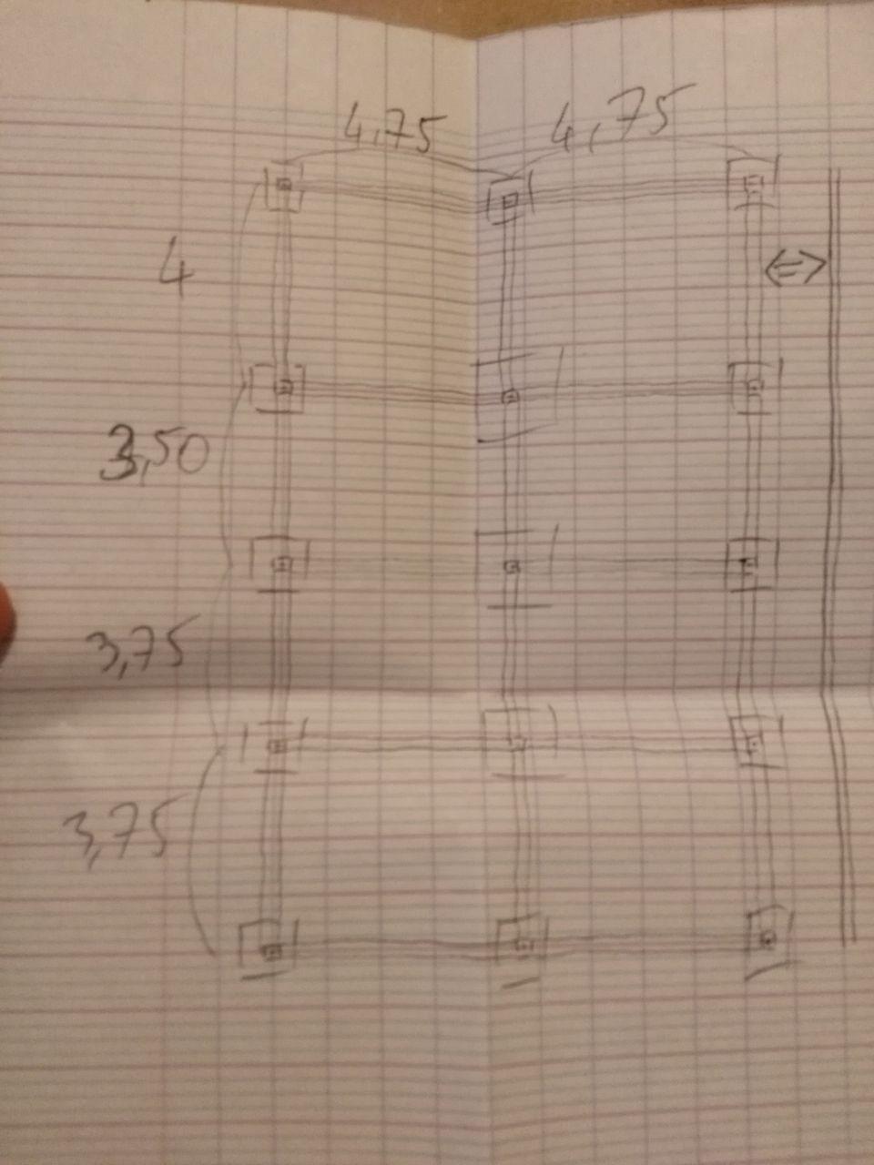 Ceci est le plan que j'ai fourni au maçon pour le début des travaux des fondations ! ^^