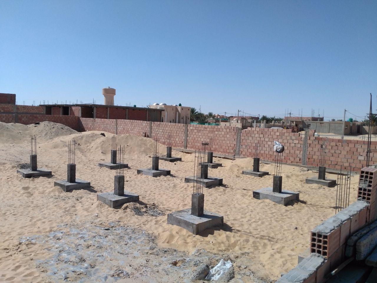Première phase des travaux des fondations terminées, à présent il va falloir remblayer.