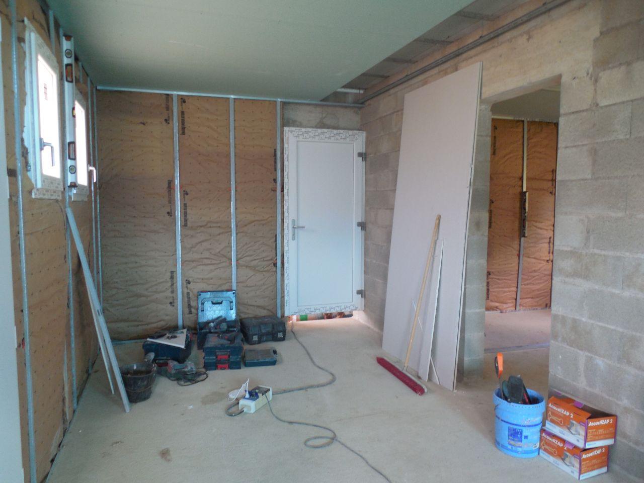 Isolation/Placo - Préparation WC/Cellier.