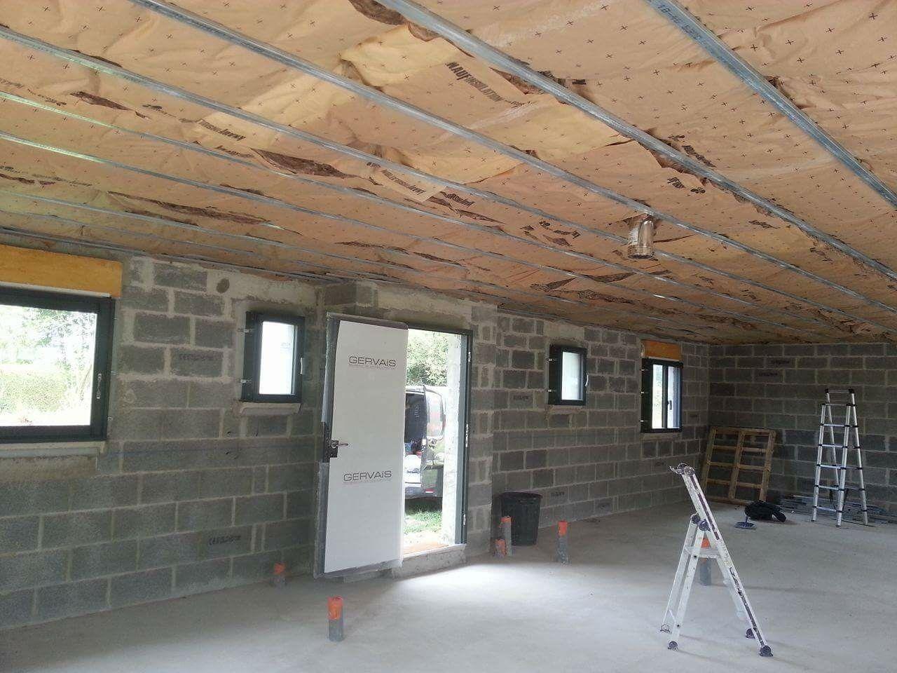 Isolation plafond.