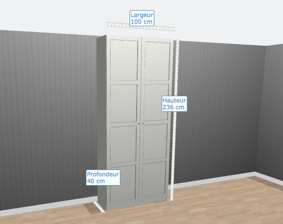 Armoire Ikea Pax couloir étage