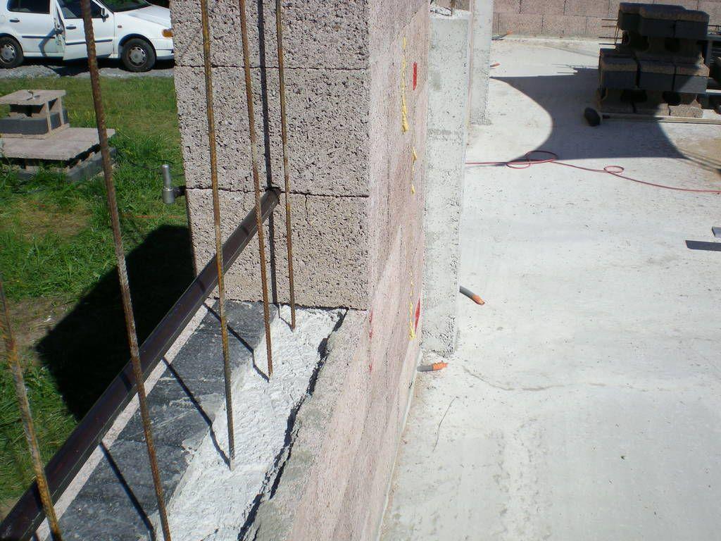 Mur après remplissage