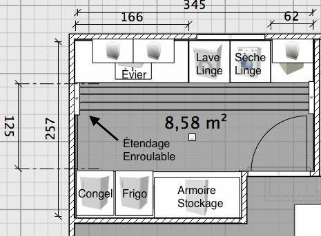 Plan future buanderie en sous-sol