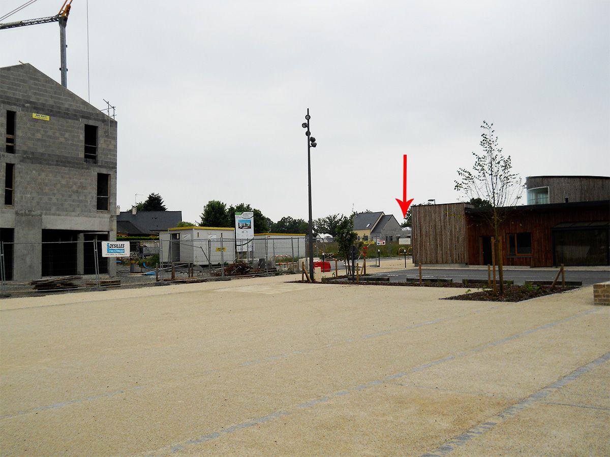 Position de la maison, vu du centre ville en cours de création.