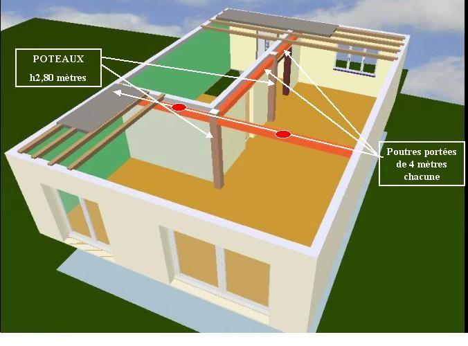 Quel poutre pour soutenir un plancher bois 11 messages - Faire un plancher beton sur poutre bois ...