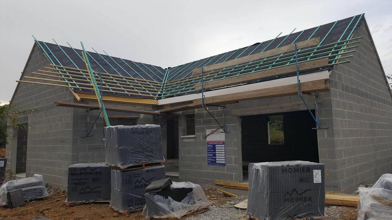 Commencement de la toiture