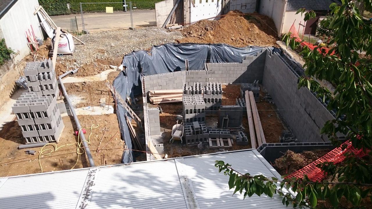 construction du sous sol en cours