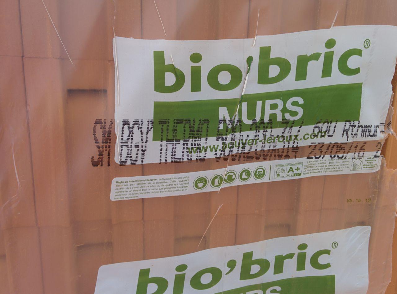 Elévation des murs  - bio'bric bgv'thermo