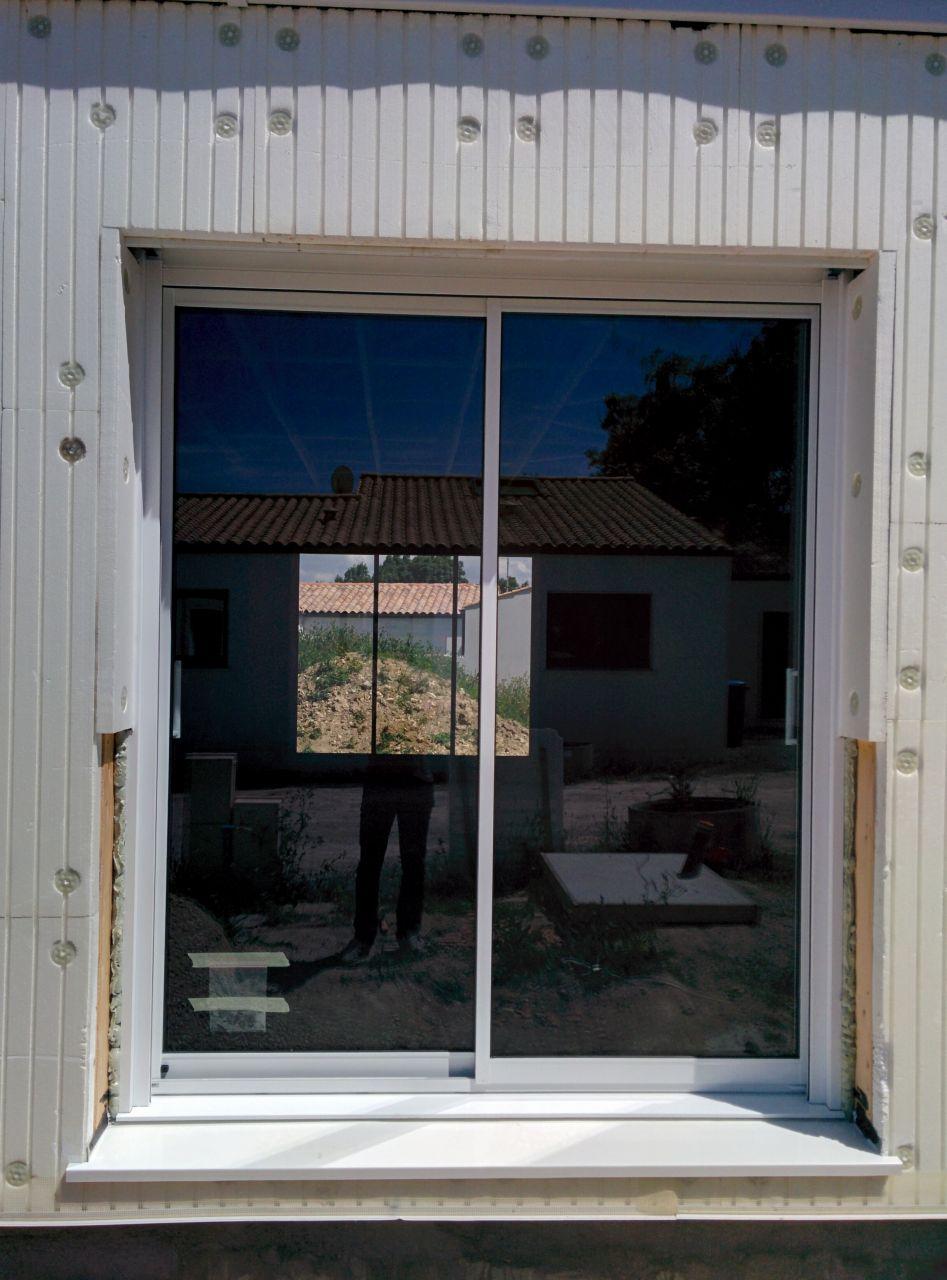 Baie vitrée facade Sud