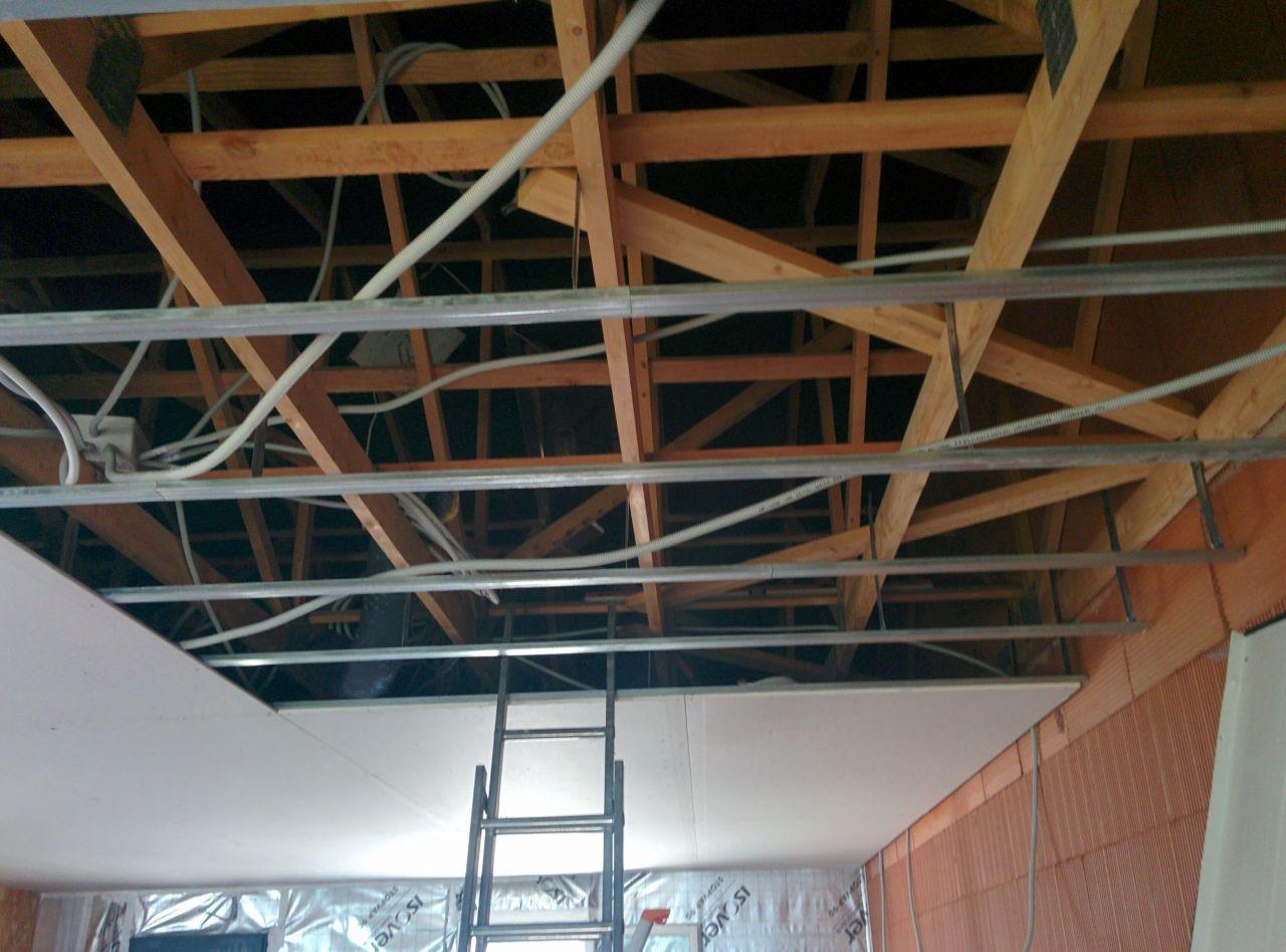 Placo au plafond