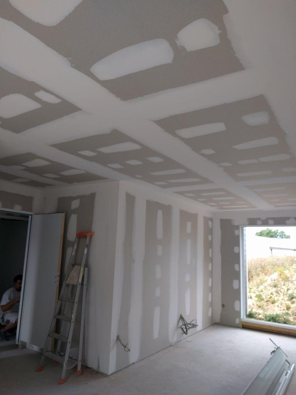 Bandes murs et plafond : séjour - salle à manger