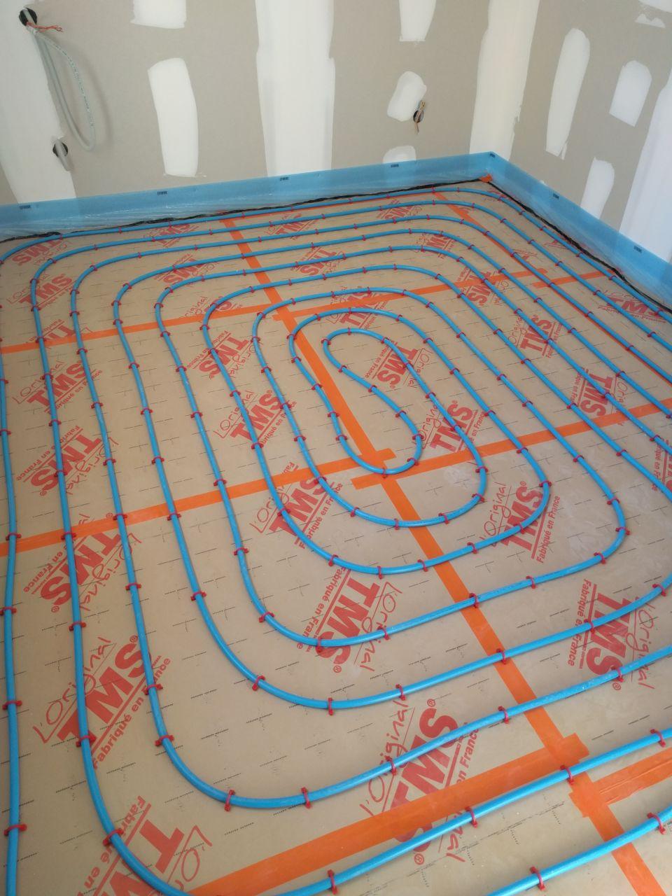 Plancher chauffant chambre 3