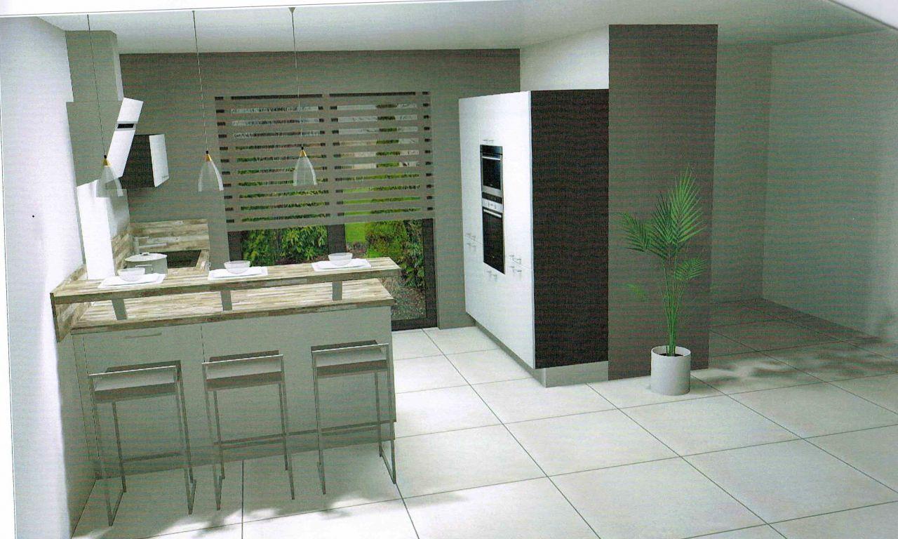 Simulation 3D de la cuisine