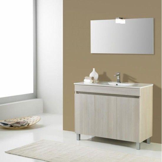 le meuble de salle de bain de l'étage