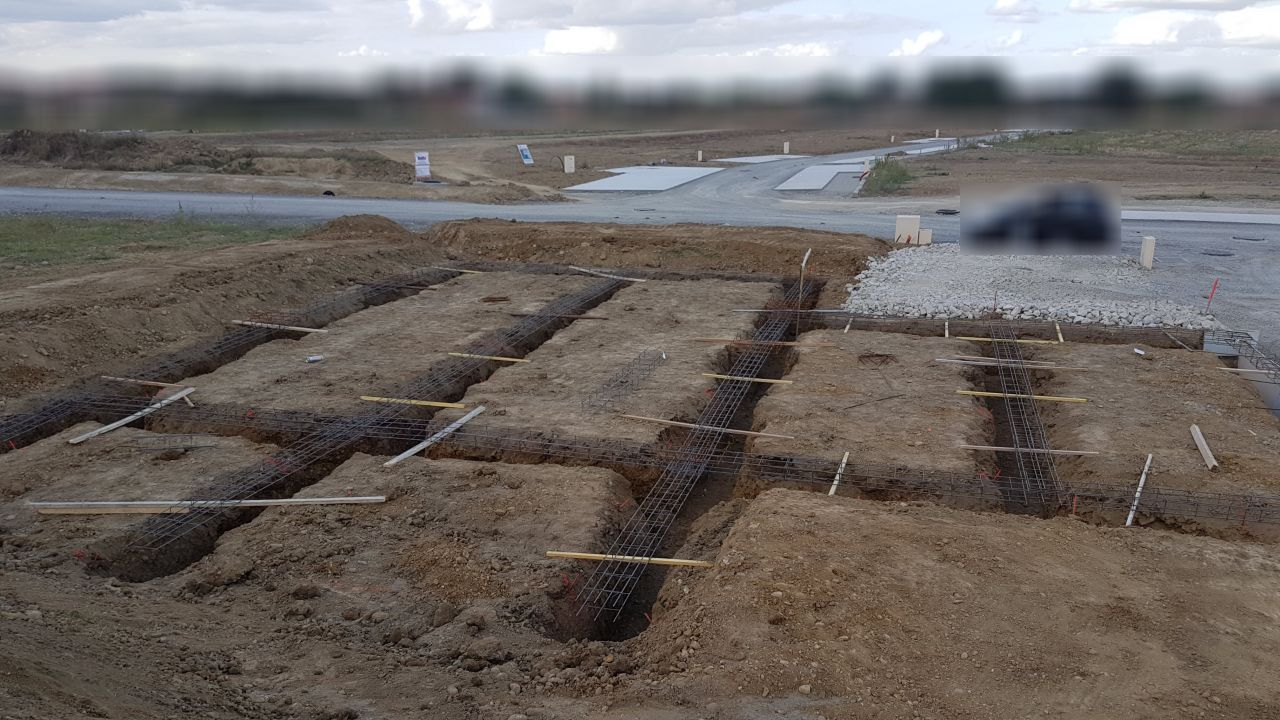 Fouilles creusées