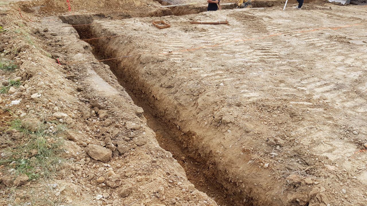 Creusage des fouilles