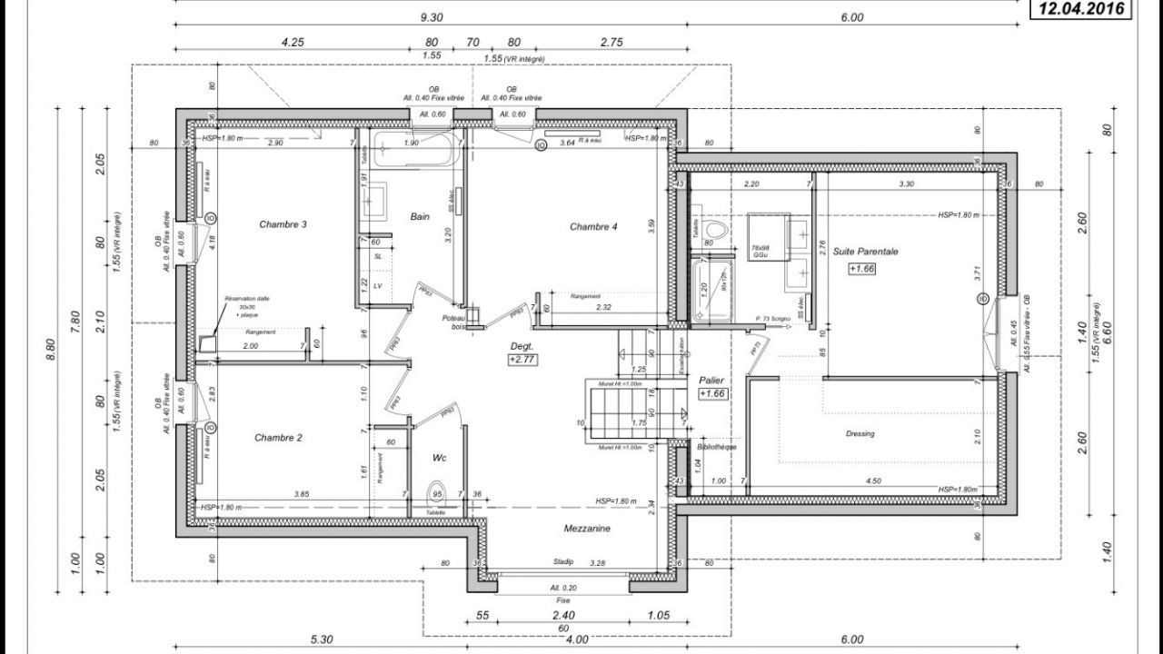 Plan maison demi niveau for Construction de maison de niveau